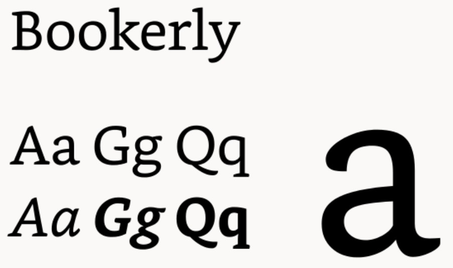 bookerly font