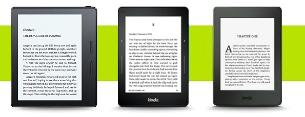 Kindle Oasis vs Kindle Paperwhite and Kindle Voyage