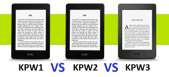 Kindle Paperwhite 3 vs Kindle Paperwhite 2 vs Kindle Paperwhite 1